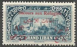 Lebanon - 1926 Refugees Charity (Baalbeck) 2.50pi+75c  MNH **    Mi 86  Sc B8 - Unused Stamps