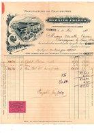 1911 FACTURE REGNIER FRERES MANUFACTURE DE CHAUSSURES à CREMIEU ISERE - France