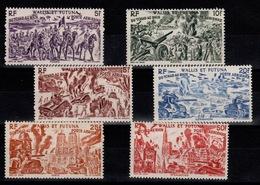 Wallis & Futuna - YV PA 5 à 10 N** Serie Complete Tchad Au Rhin - Poste Aérienne