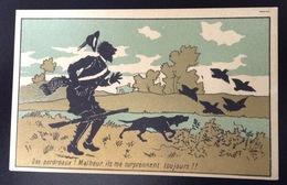 FRESNES Chocolat Droulers La Magicienne Chromo Dorée Chasse Chasseur Perdreaux Chien Fusil Oiseaux - Chocolat
