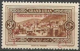 Lebanon - 1926 Refugees Charity (Deir El-Kamar) 3pi+1p  MNH **    Mi 87  Sc B9 - Unused Stamps