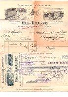 1910 FACTURE + TRAITE CH. LOUOT MANUFACTURE DE CHAUSSURES à LYON - France
