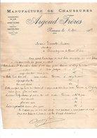 1919 FACTURE ARGOUD FRERES MANUFACTURE DE CHAUSSURES à ROMANS ISERE - France