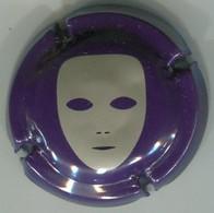 CJ-CAPSULE-LIMOUX- Masque Gris Sur Fond Violet - Mousseux