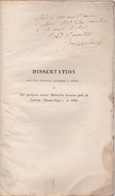 RARE. EO 1838 LAPLANE SUR UNE MÉDAILLE ATTRIBUÉE À NÉRON DÉDICACE SISTERON - Livres, BD, Revues