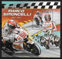 MOZAMBIQUE  BF  511 * * ( Cote 16e ) Moto Marco Simoncelli - Moto