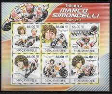 MOZAMBIQUE  Feuillet N° 4446/51 * * ( Cote 36e ) Moto Marco Simoncelli - Moto