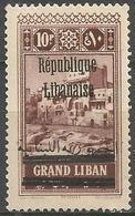 Lebanon - 1928 Tripoli Republic Overprint 10pi MNH **    Mi 131  Sc 94 - Great Lebanon (1924-1945)