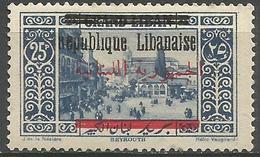 Lebanon - 1928 Beirut Republic Overprint 25pi MNH **    Mi 133  Sc 95 - Great Lebanon (1924-1945)