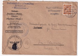 ALLEMAGNE ZONE AAS 1946 LETTRE DE FRANKFURT - American,British And Russian Zone