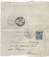 TIMBRE SAGE 15 Centimes Sur Imprimé  Posté  En 1899 Départ De Clerval  ( Anteuil ) - 1853-1860 Napoleon III