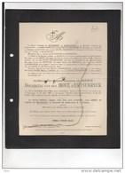 Olympe De Heusch Douairiere Van Den Hove D'Ertsenryck °Kortessem 1855 + 24/9/1923 Mariakerke Gent Séjournet De Rameigni - Décès