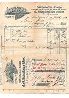 1911 FACTURE + TRAITE J.& E. BESSIERE & REAL TIGES PIQUEES à SAINT ETIENNE - France