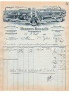 1910 FACTURE HUGUES FILS & Cie TISSAGES MECANIQUES à SAINT QUENTIN AISNE - France