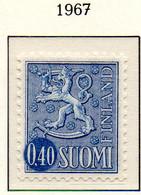 PIA - FINLANDIA - 1967 : Uso Corrente - Leone Rampante - Nuova Moneta   - (Yv 540AB  II) - Neufs