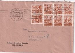 ALLEMAGNE ZONE AAS 1948 LETTRE DE MÜNCHEN - Gemeinschaftsausgaben