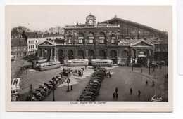 - CPSM LILLE (59) - Place De La Gare 1951 - Editions Fauchois N° 1 - - Lille
