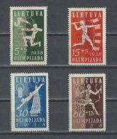 LITUANIE.  YT  N° 365A/365D  Neuf */SG 1938  (voir Détail) - Lithuania