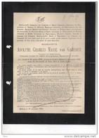 Adolphe Van Gameren Chanoine °Anvers 1828+9/11/1890 Limnander De Nieuwenhove Prêtre Hanswijk Priester Kanunnik - Décès