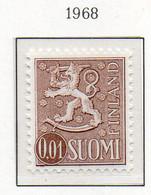 PIA - FINLANDIA - 1968 : Uso Corrente - Leone Rampante - Nuova Moneta   - (Yv 531A  I) - Neufs