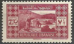Lebanon - 1939 Bet-et-Dine 7.50pi MNH **    Mi 252 Sc 154 - Great Lebanon (1924-1945)