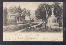 CPA CEYLAN - CEYLON - KANDY - Temple Of The Holy Tooth - TB PLAN + TB Oblitération 1903 Verso - Sri Lanka (Ceylon)