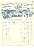 1910 FACTURE SEILIGMANN & Cie GILETS DE FLANELLE à VAUCOULEURS MEUSE - France