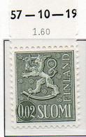 PIA - FINLANDIA - 1968 : Uso Corrente - Leone Rampante - Nuova Moneta   - (Yv 531B  I) - Neufs
