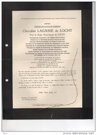 Charles Lagasse De Locht °Nivelles Nijvel 1845+19/3/1937 Bruxelles Van Lanschot Van Ryckevorsel - Décès