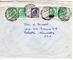 2.6.1956; Bedarfsbrief In Die USA, Mi-Nr. 58 (2 Paare ) + Mi-Nr. 59, Los 51331 - Libyen