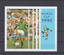 Dominica 1990 Italy World Cup Football FIFA  Souvenir Sheet MNH/** (H53) - Coupe Du Monde