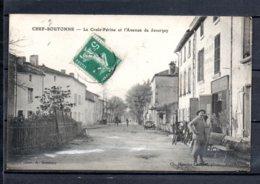 79 - Chef Boutonne - La Croix Périne Et L'avenue De Javarzay - Animée - Chef Boutonne