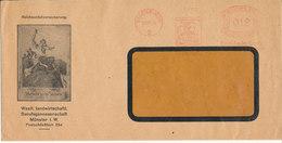 Germany Reich Cover With Meter Cancel Münster (Westf.) 10-12-1936 (Reichunfallversicherung) - Germany