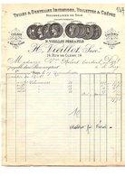 1910 H. VIEILLOT TULLES ET DENTELLES RUE DE CLERY à PARIS - France