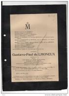 Gustave De LHONEUX Senateur Banquier °Huy 1839+18/3/1901 Paris Mottart De Molinari D'Andrimont De Buresse Dautrebande - Décès