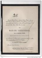Marie Vanschauwbroeck Veuve Gellens Mahor Commandant Louvain °1795+1/5/1870 Peeters Vangobbelschroy - Décès