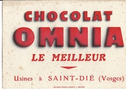 88 - Saint-Dié - Buvard - Chocolat Omnia - Chocolat