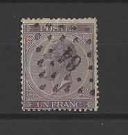BELGIQUE.  YT  N° 21  Obl  1866 - 1865-1866 Profil Gauche
