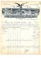 1910 FACTURE DECAUDIN & BEGUIN TISSAGES à SAINT QUENTIN AISNE - 1900 – 1949