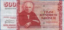 ISLANDE -  500  Kronur Du  22 Mai 2001 -   Bon état       Voir Scans - Iceland