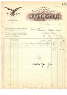 1911 FACTURE A. LAMBERT Et Fils MANUFACTURE DE GANTS DE PEAUX à SAINT JUNIEN HAUTE VIENNE - France