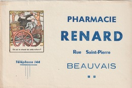 60 - BUVARD - BEAUVAIS - PHARMACIE RENARD - Blotters