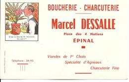 88 - Epinal - Buvard - Boucherie-Charcuterie Marcel Dessalle - Alimentaire
