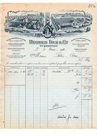 1911 FACTURE HUGUES Fils & CiE TISSAGES à SAINT QUENTIN AISNE - France