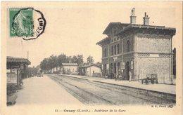 ORSAY ESSONNE : INTERIEUR DE LA GARE - VOIE DE CHEMIN DE FER SNCF - Circulé Vers MONTFORT L'AMAURY - Orsay