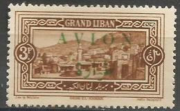 Lebanon - 1925 Deir-al-Kamar AVION Overprint 3p MNH **    Mi 72  Sc C10 - Great Lebanon (1924-1945)