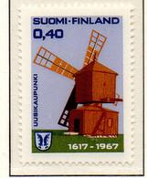 PIA - FINLANDIA - 1967 : 350° Anniversario Di  Uusikaupukunki - Mulino A Vento  - (Yv 592) - Neufs