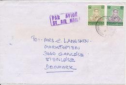 Thailand Cover Sent Air Mail To Denmark - Thailand