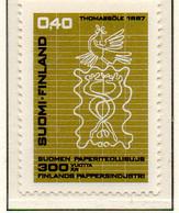PIA - FINLANDIA - 1967 : 300° Anniversario Dell' Industria Cartaria Finlandese  - (Yv 598) - Neufs