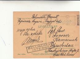 Belligèrant Internè Post Card Ungheria  To Germany  19 Dicembre 1939 - Prigioniero Di Guerra - - Militaria